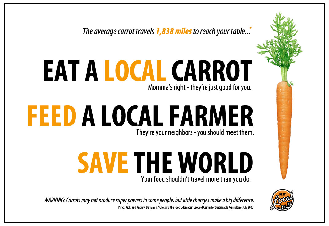 The average carrot travels 1,838 to reach your table